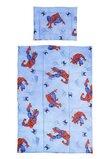 Lenjerie bumbac Spiderman,albastru, 3 piese