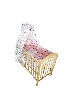 Lenjerie cu baldachin, 2 fete, stelutele roz 1, 120 x 60 cm