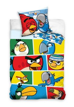 Lenjerie de pat Angry Birds, albastra, 160x200cm