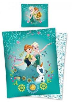 Lenjerie de pat, Anna si Elsa, verde, 160x200cm