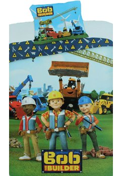 Lenjerie de pat, Bob the builder, 140 x 200 cm