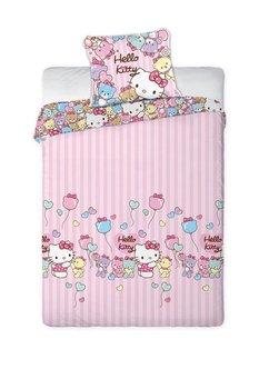 Lenjerie de pat Hello Kitty, 160 x 200 cm, roz