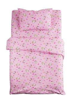 Lenjerie de pat, Hello Kitty roz, 3 piese, 160x200cm