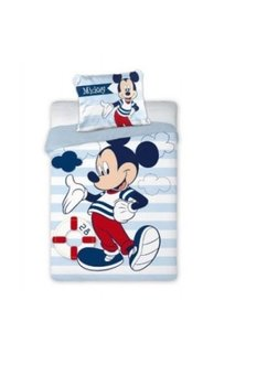 Lenjerie de pat, Mickey norisori si dungi, 100 x 135 cm
