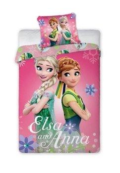 Lenjerie de pat, roz, Elsa si Anna, 140x200cm