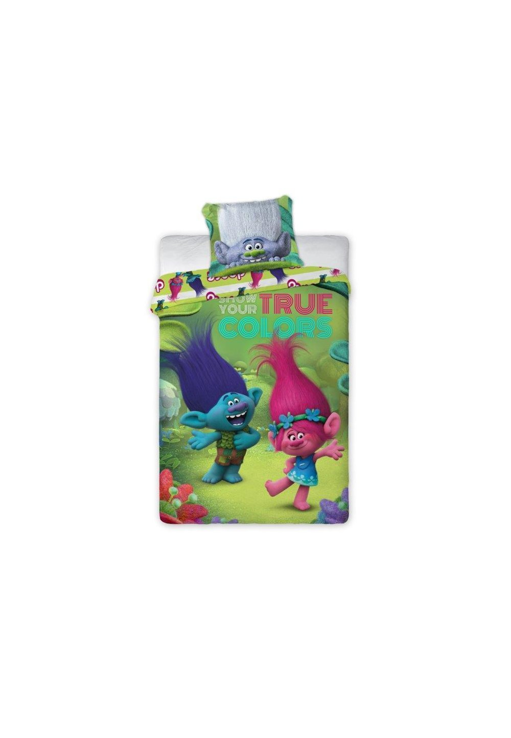 Lenjerie de pat, Trolls, True colors, 160x200cm imagine