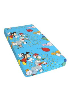 Lenjerie Mickey petrece, albastru,3 piese, 120 x 60 cm