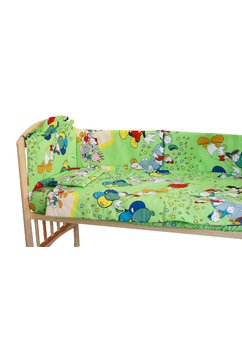 Lenjerie Mickey petrece, verde, 5 piese, 120 x 60 cm