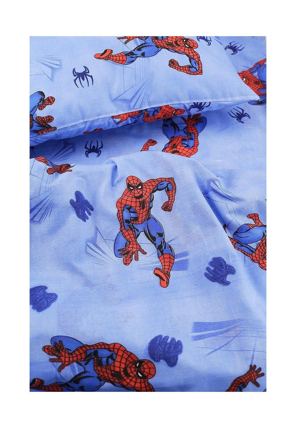 Lenjerie pat 3 piese Spiderman, 160 x 200 cm imagine