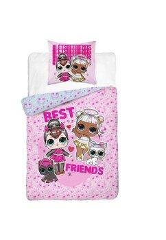 Lenjerie pat, Best Friends, LOL, roz, 140x200 cm