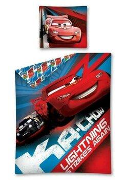Lenjerie pat, Cars rosu cu albastru,140x200 cm