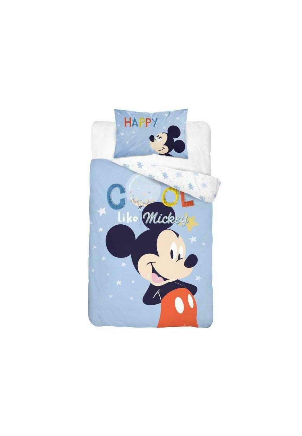 Lenjerie pat, Cool like Mickey,albastra, 100x135 cm imagine