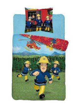 Lenjerie pat, Fireman Sam, rosie, 140x200 cm