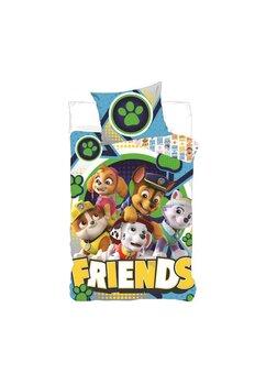 Lenjerie pat, Friends, Paw Patrol, verde, 140 x 90 cm