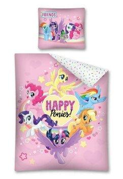 Lenjerie pat, Happy Ponies, roz, 160x200 cm