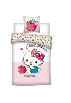 Lenjerie pat, Hello Kitty, I love apples, roz