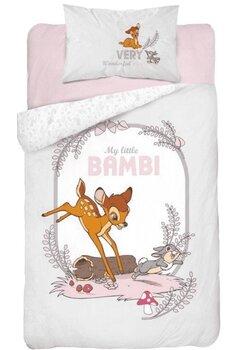 Lenjerie pat, My little Bambi, gri, 100x135 cm