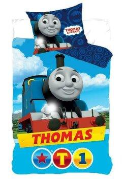 Lenjerie pat, Thomas T1,albastra, 160x200 cm