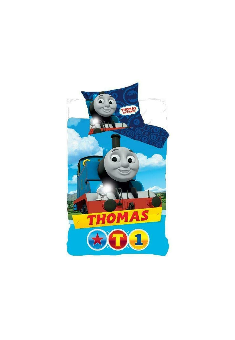 Lenjerie pat, Thomas T1,albastra, 160x200 cm imagine