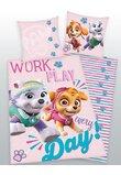 Lenjerie pat, Work play, roz, 160x200 cm