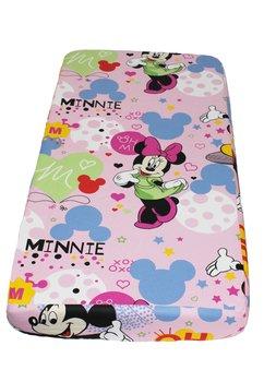 Lenjerie patut, 3 piese, Minnie si Mickey, roz, 120 x 60 cm
