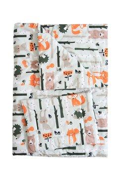 Lenjerie patut, 3 piese, Vulpitele portocalii, 120 x 60 cm