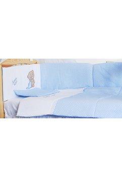 Lenjerie patut, 5 piese, little bear, blue, 120 x 60 cm