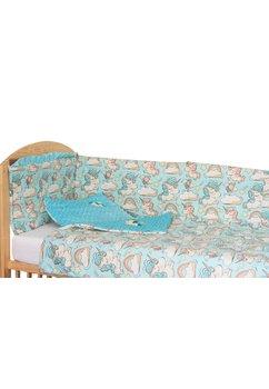 Lenjerie patut, 5 piese, Unicorn turcoaz, 120 x 60 cm