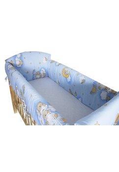 Lenjerie patut 7 piese, Maxi, ursuletul somnoros albastru, 120x60 cm