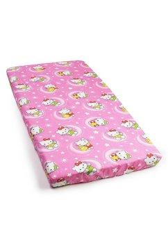 Lenjerie patut bumbac, Hello Kitty, roz, 3 piese