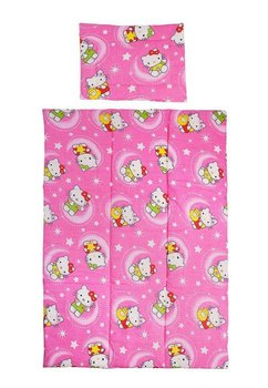 Lenjerie patut bumbac, Hello Kitty, roz, 3 piese
