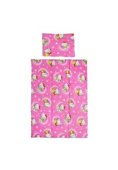Lenjerie patut bumbac, Hello Kitty, roz, 5 piese 140x70cm