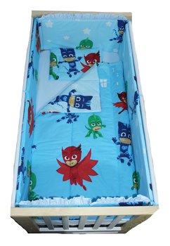 Lenjerie patut, Eroii in pijama, 5 piese, 140x70 cm