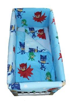 Lenjerie patut, Eroii in Pijama, 7 piese, 120x60 cm