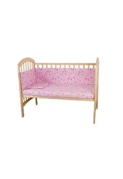 Lenjerie patut Hello Kitty, 4 piese roz deschis, 120x60 cm