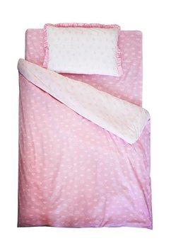 Lenjerie Princess 2 fete, alb cu roz, 160x200cm