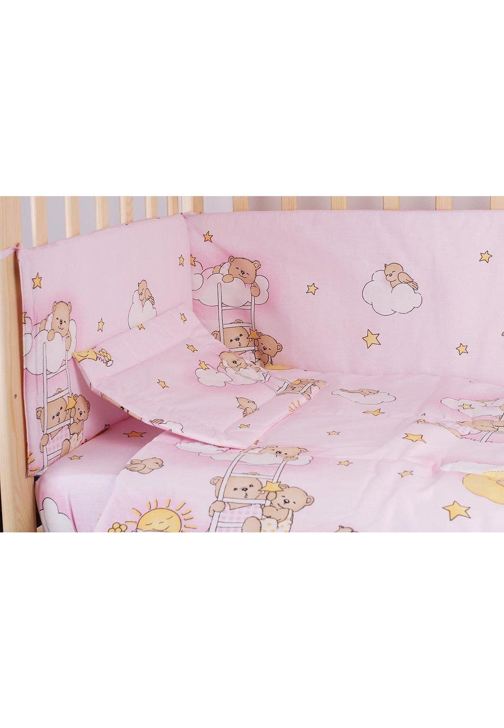 Lenjerie ursuletul somnoros,roz 5 piese 120x60 cm imagine