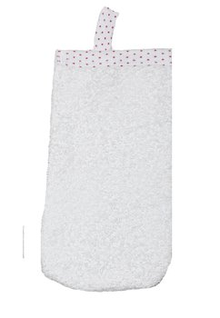 Manusa baie, alba cu buline roz
