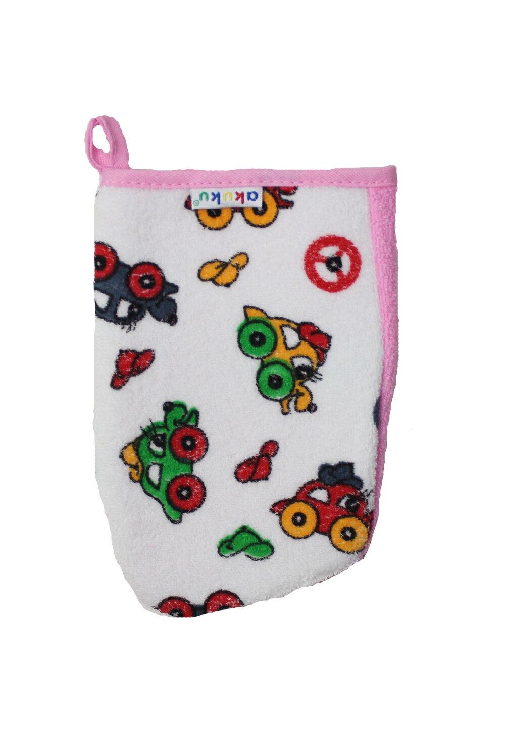 Manusa de baie, masinute, roz imagine