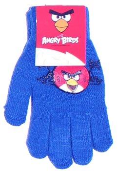 Manusi cu degete, Angry Birds, 3-7ani, albastru