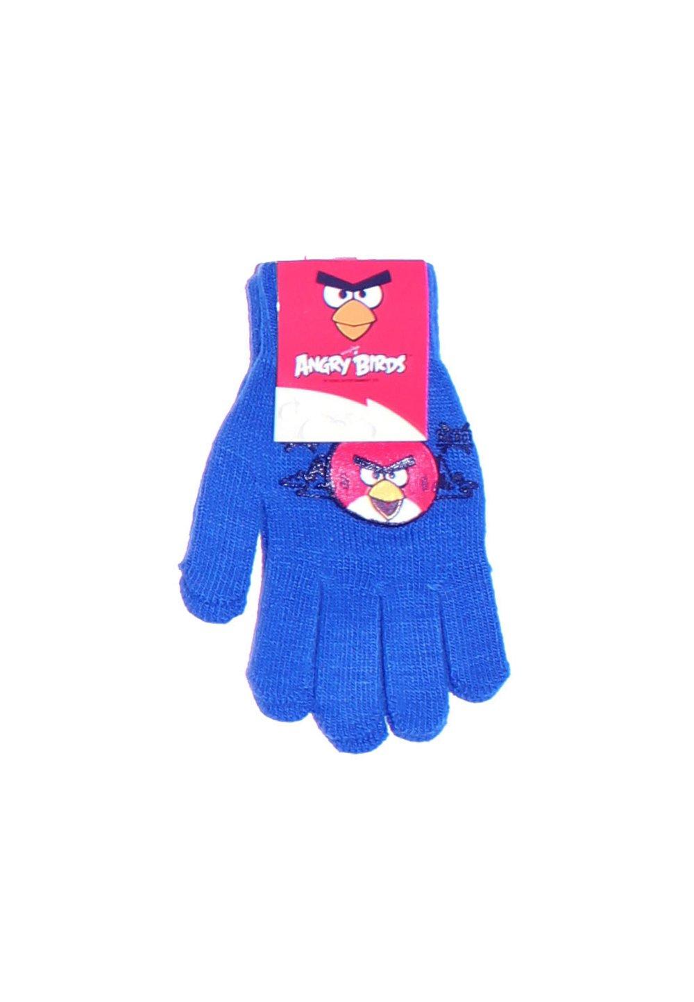 Manusi cu degete, Angry Birds, 3-7ani, albastru imagine
