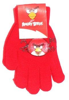 Manusi cu degete, Angry Birds, 3-7ani, rosii