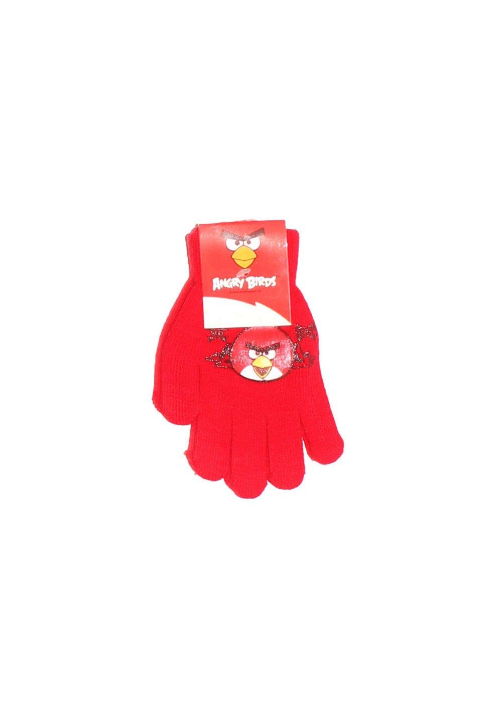 Manusi cu degete, Angry Birds, 3-7ani, rosii imagine