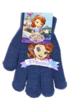 Manusi cu degete Sofia albastru inchis, 3 - 7 ani