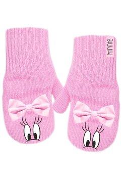 Manusi, Minnie Mouse, roz cu fundita