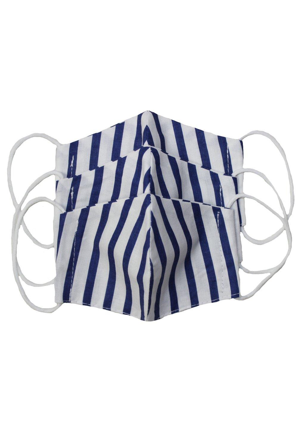 Masca reutilizabila, set 3 buc, copii, 2-6 ani, alb cu dungi imagine
