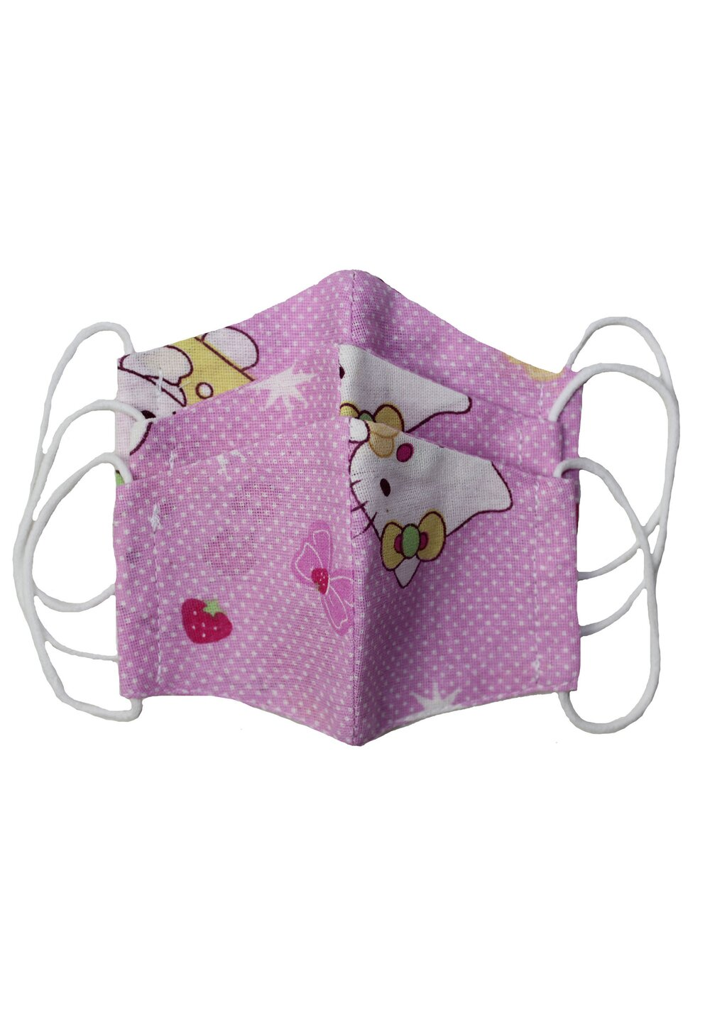 Masca reutilizabila, set 3 buc, fete, 2-6 ani, Hello Kitty imagine