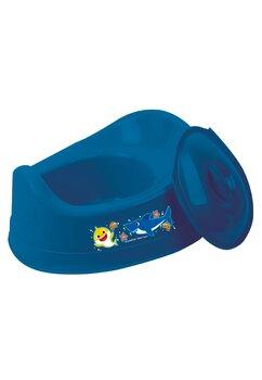 Olita cu capac din plastic, cu rechin, albastra
