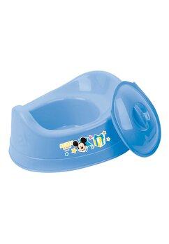 Olita cu capac din plastic, Mickey Mouse, albastra