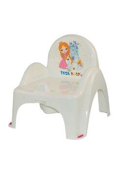 Olita muzicala scaunel, Printesa si unicornul, alba,